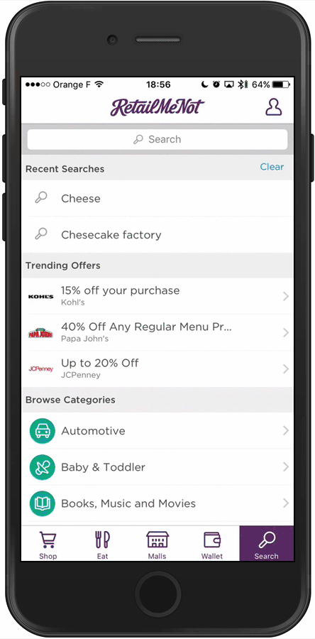 """the """"in between"""" search screen options for mobile search ux"""